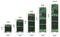 M2-SSDs: Bauformen 2230, 2242, 2260, 2280 & 22110