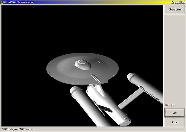 Enterprise in MeshD3D