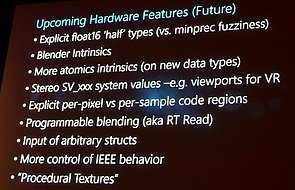 Microsoft Shader Model 6 – Hardware-Features