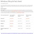 Microsoft Windows Support-Seite vom 20. Juli 2015