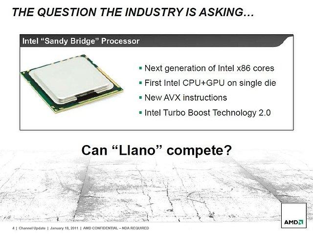 AMDs Präsentation zur Llano-Prozessorenarchitektur, Teil 4