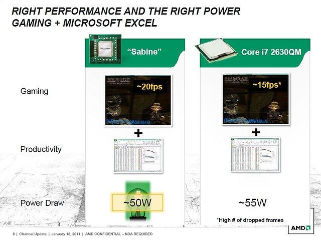 AMDs Präsentation zur Llano-Prozessorenarchitektur, Teil 8
