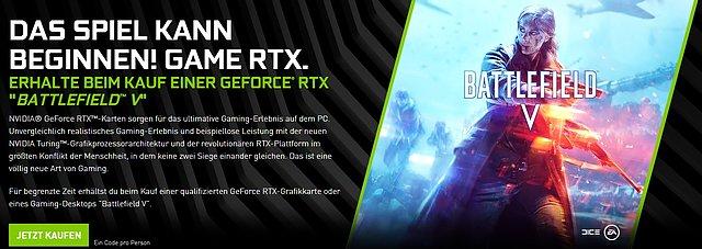 """nVidia """"Battlefield V"""" Spielebundle"""
