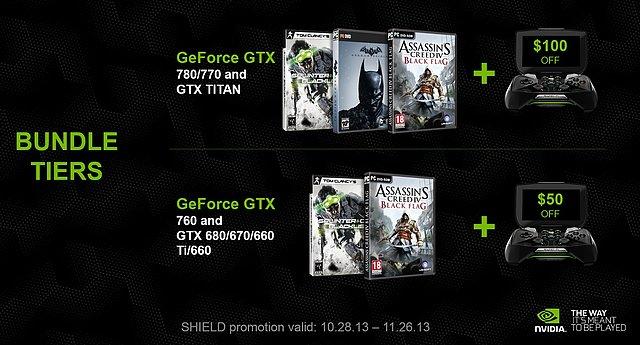 nVidia GeForce GTX 600/700 Spiele-Bundles Oktober 2013
