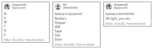 "nVidia ""Hopper"" Tape-Out: Twitter am 20. Juli 2021"