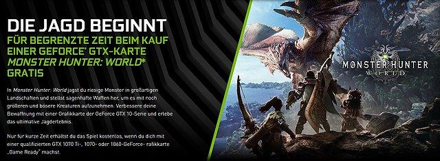 "nVidia ""Monster Hunter World"" Spielebundle"
