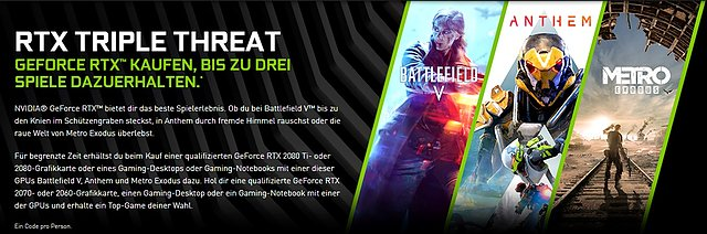 "nVidia ""RTX Triple Threat"" Spielebundle"