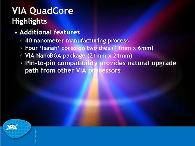 VIA-Präsentation zum Nano QuadCore-Prozessor, Teil 3
