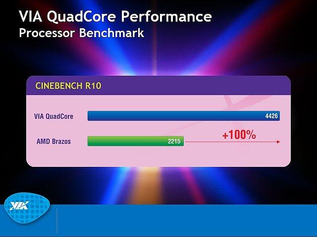 VIA-Präsentation zum Nano QuadCore-Prozessor, Teil 8